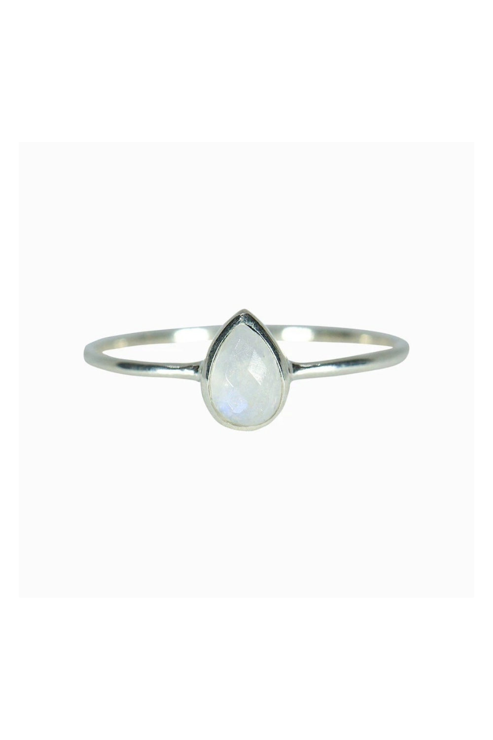 Pura Vida Silver Teardrop Moonstone Ring | Bella Lucca Boutique