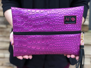 Purple Kinda Pink Makeup Junkie Bag-Bella Lucca Boutique