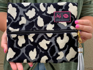 Rosette Black Makeup Junkie Small Bag-Bella Lucca Boutique