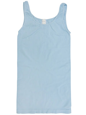 Yahada Wide Strap Seamless Tank Top-Dusty Blue