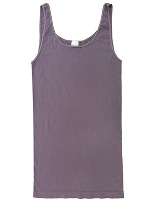 Yahada Wide Strap Seamless Tank Top-Dusty Purple