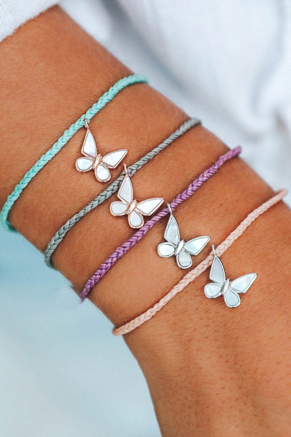 Pura Vida Save the Butterflies Charm Bracelet | Bella Lucca Boutique