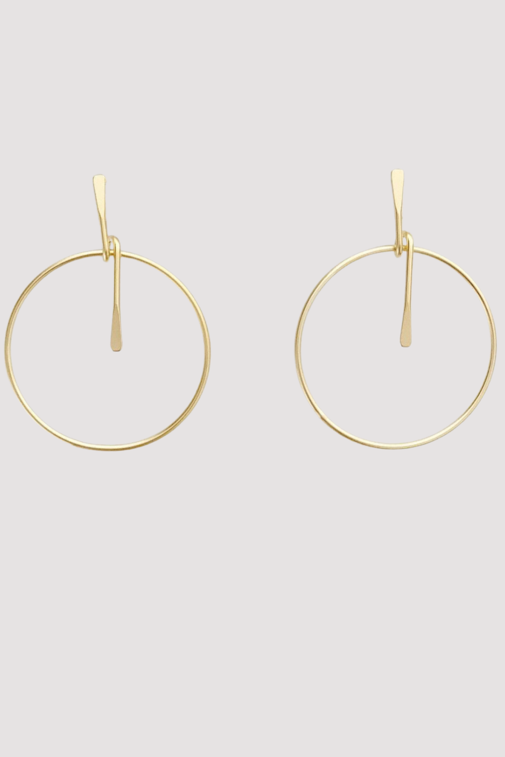 Virtue Jewelry Stick Hoops - Gold Hoop Earrings