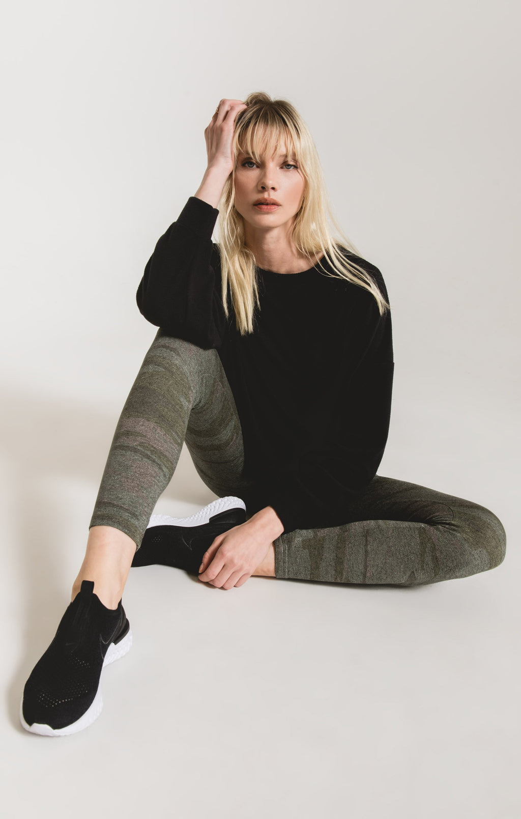 Z Supply Camo Mod Knit Leggings