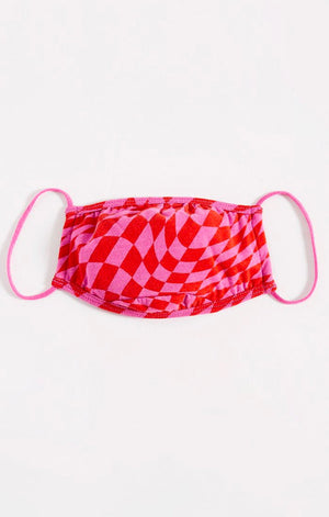 Z Supply Reusable Face Mask Valentine's Day Collection - Checkered Youth Mask