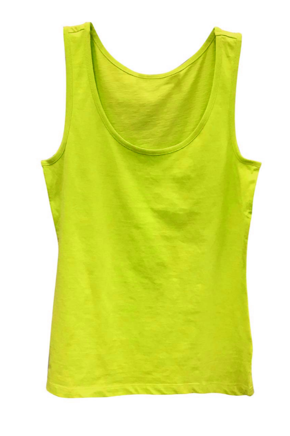 Boutique Tank Top Fluorescent Yellow | Bella Lucca Boutique