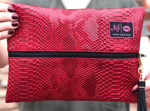 Crimson Cobra Makeup Junkie Small Bag-Bella Lucca Boutique