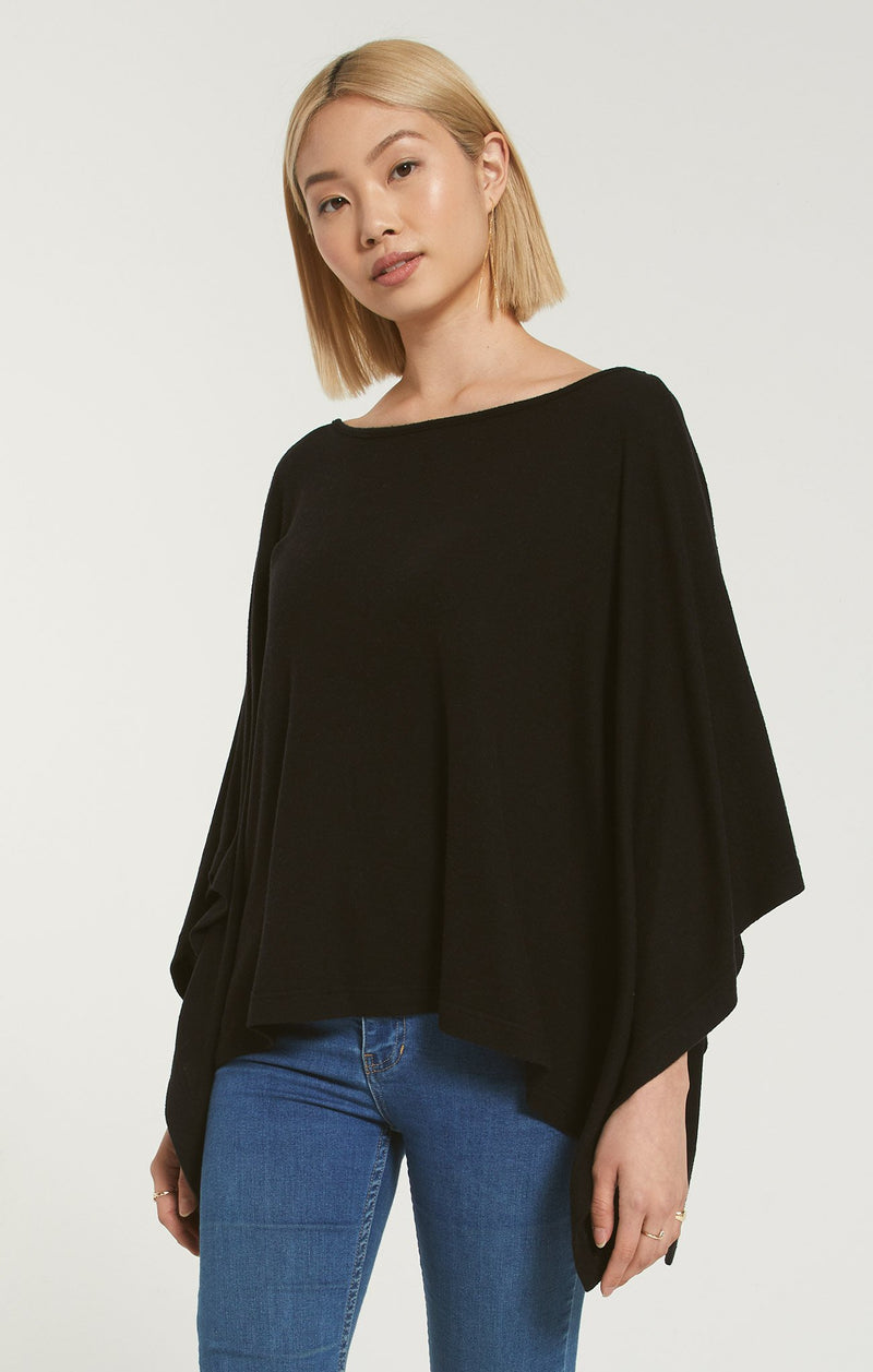 Z-Supply-Ruby-Black-Marled-Poncho