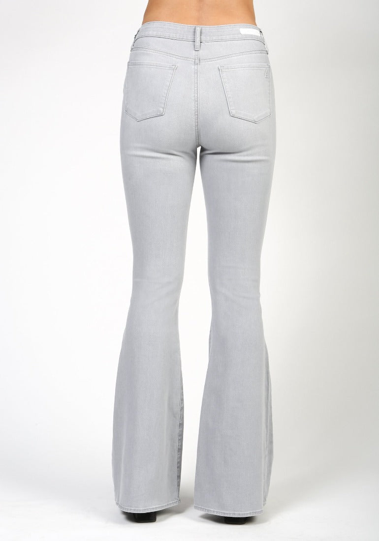 Harbor Light Grey High Rise Flares | Bella Lucca Boutique
