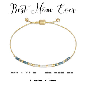 MORSE CODE BRACELET - BEST MOM EVER