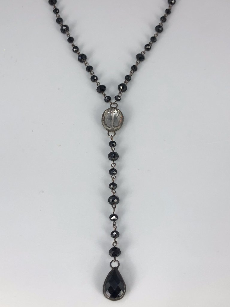 Rose Long Lariat Necklace