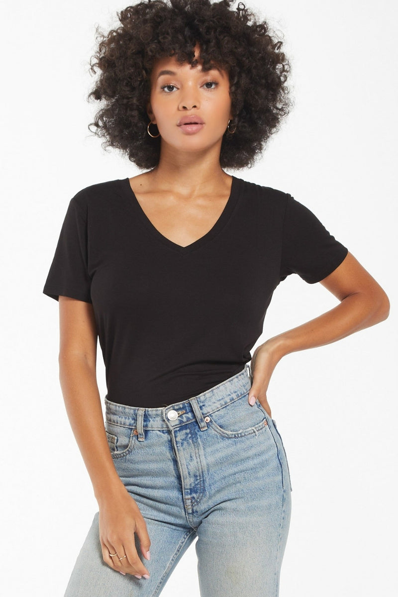 Z Supply Lipa Sleek Tee-Black