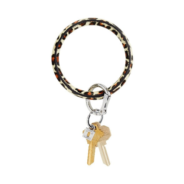 O-Venture Big O Leather Key Ring-Rose Gold-Bella Lucca Boutique