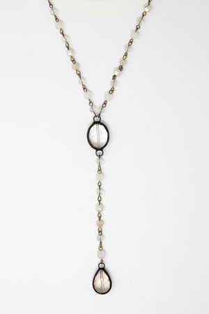 Rose Long Lariat Necklace-Cotton