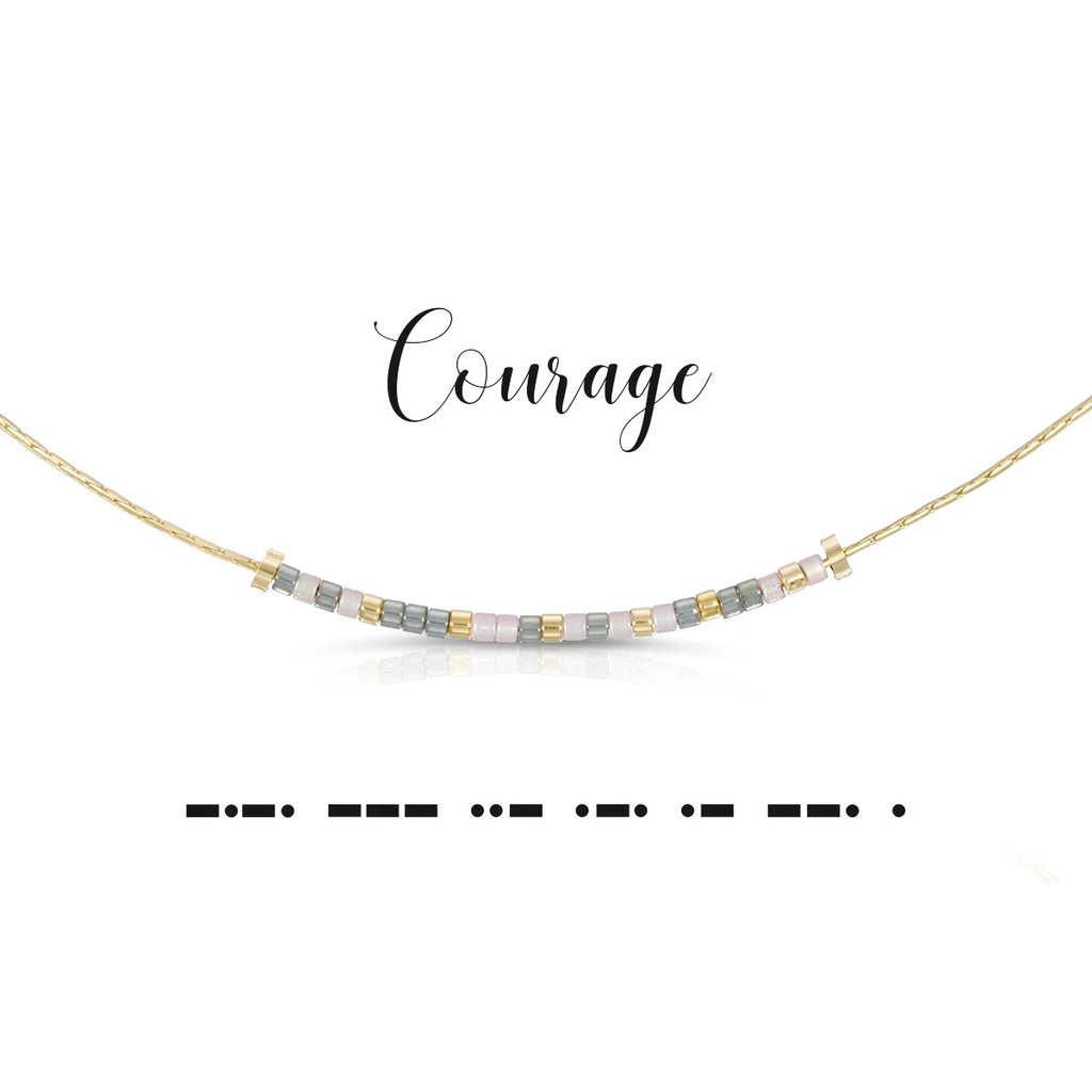 MORSE CODE NECKLACE - COURAGE