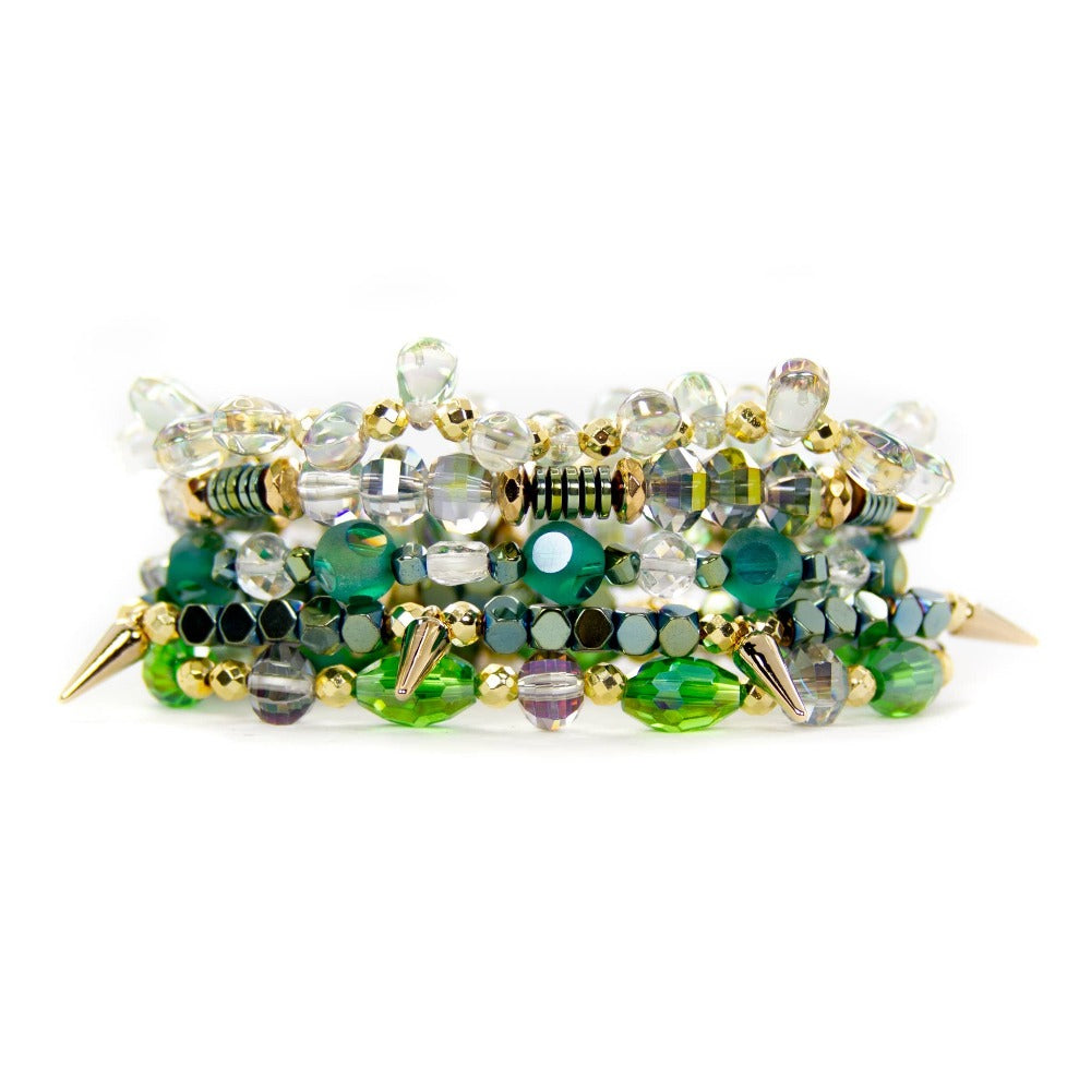 Green Bracelet Stack | Bella Lucca Boutique