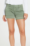 Dressy Cuffed Hem Twill Green Shorts | Bella Lucca Boutique