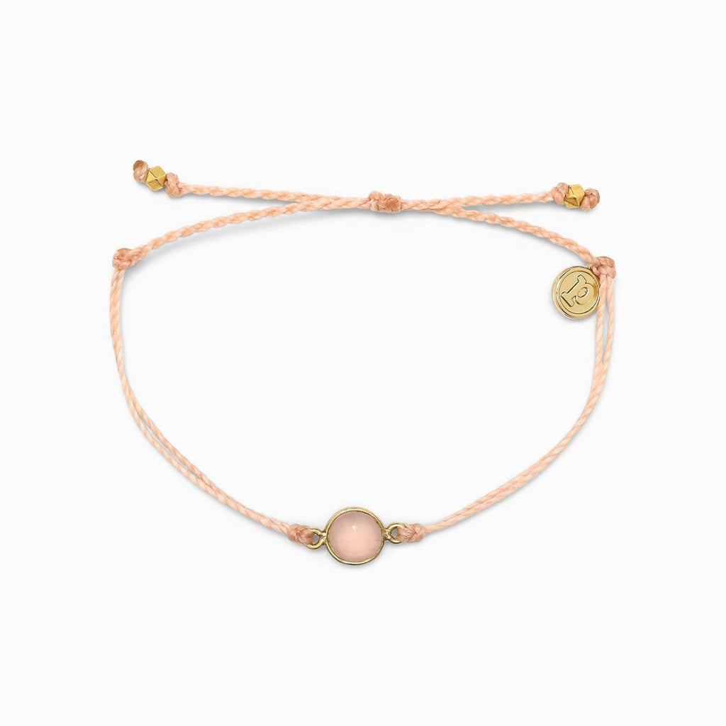 Pura Vida Rose Quartz Charm Bracelet Gold | Bella Lucca Boutique