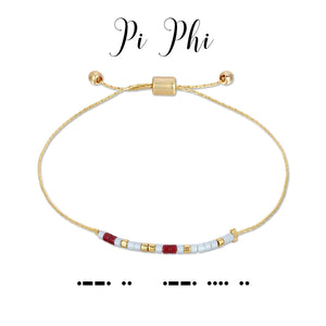 MORSE CODE SORORITY COLLECTION - PI PHI
