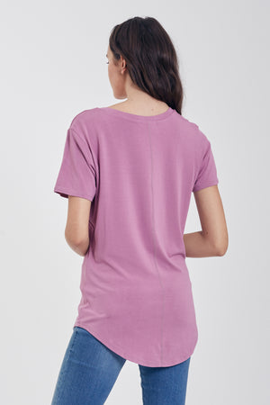 PHOENIX POCKET V-NECK TEE - LAVENDER