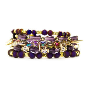 Purple & Gold Bracelet Stack