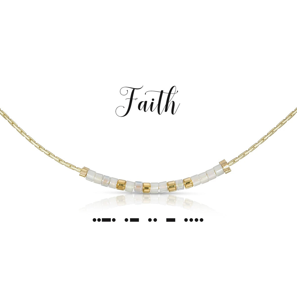 MORSE CODE NECKLACE - FAITH