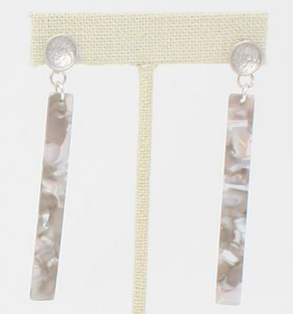 Virtue Jewelry Acrylic Bar Earrings