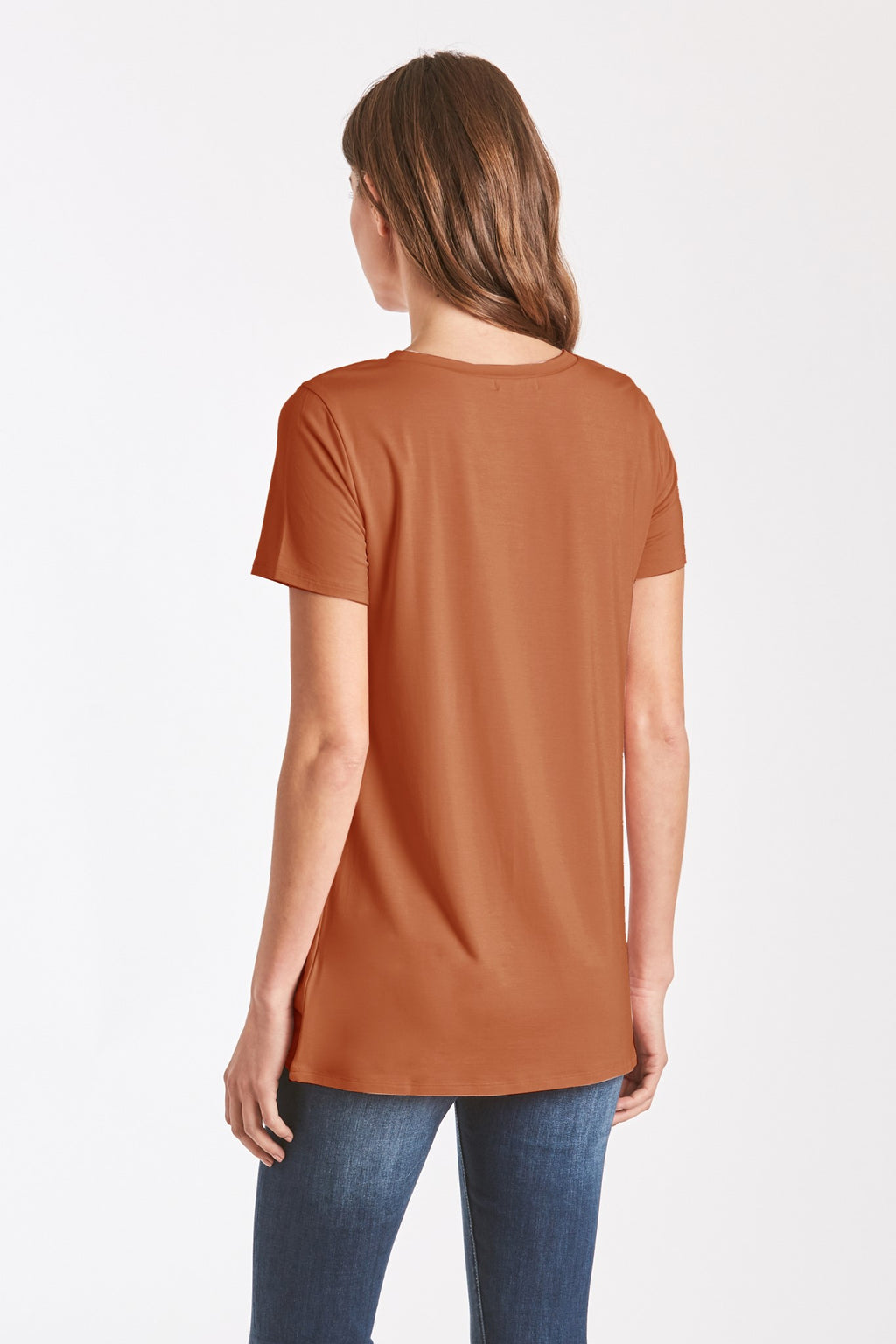 Julia Front Knot Tee-Cider