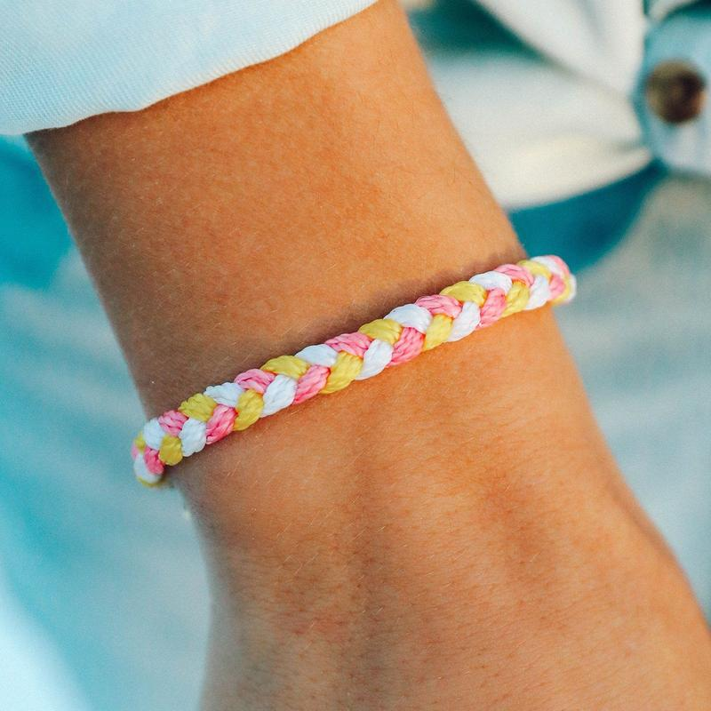 Pura Vida Strawberry Lemonade Multi Braided | Strawberry Lemonade