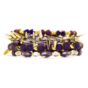 purple gold bracelets