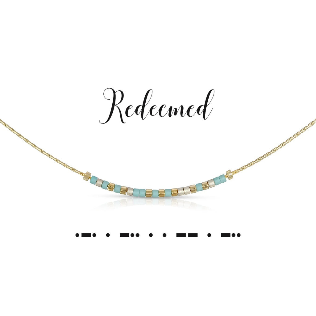 MORSE CODE NECKLACE - REDEEMED