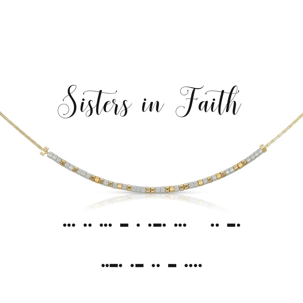MORSE CODE NECKLACE - SISTERS IN FAITH