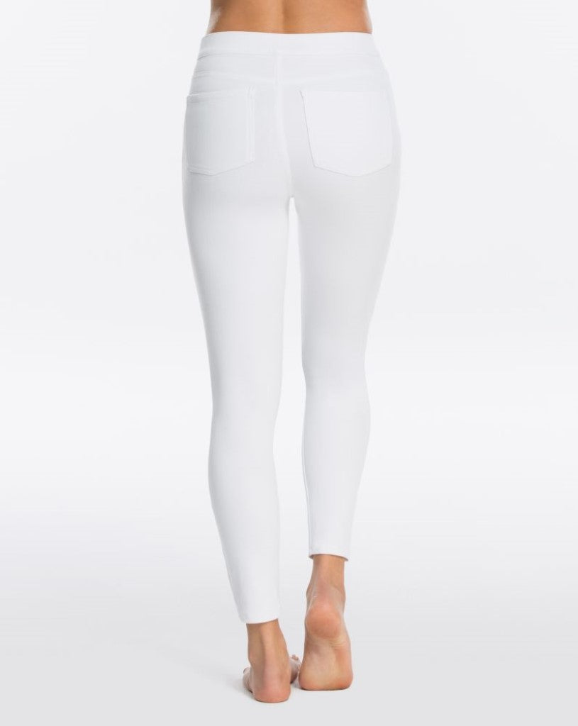 spanx jeanish ankle leggings white back