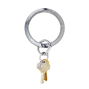 O-Venture Big O Leather Key Ring-Tuxedo Snakeskin-Bella Lucca Boutique