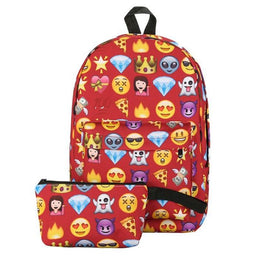 Backpack The Emojis 2Pcs Red