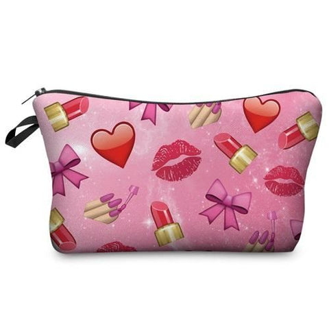 Cosmetics Bag 3D Love Lips