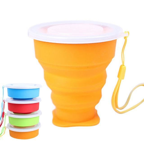 Retractable Silicone Cup Orange