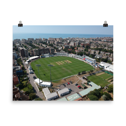The 1st Central County Ground Aerial Poster