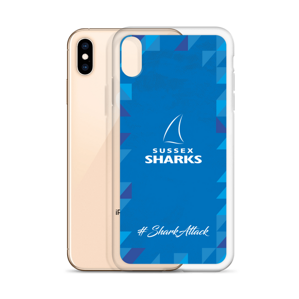 #SharkAttack iPhone Case - Blue