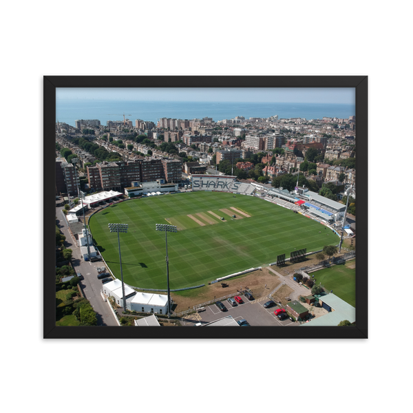 The 1st Central County Ground Aerial Poster - Framed