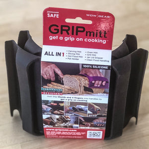 GRIPmitt® Silicone Kitchen & BBQ Mitt - BLACK, 2-pack