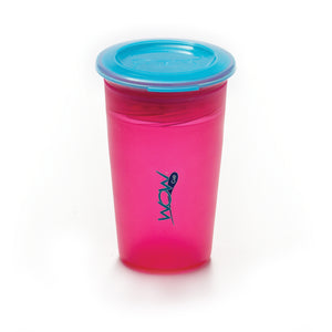 JUICY! WOW CUP 360 Training Cup - Translucent PINK - 9 oz