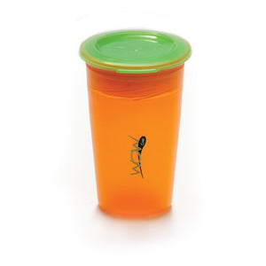 JUICY! WOW CUP 360 Training Cup - Translucent ORANGE - 9 oz
