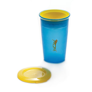 JUICY! WOW CUP 360 Training Cup - Translucent BLUE - 9 oz
