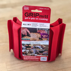 GRIPmitt® Silicone Kitchen & BBQ Mitt - RED, 2-pack