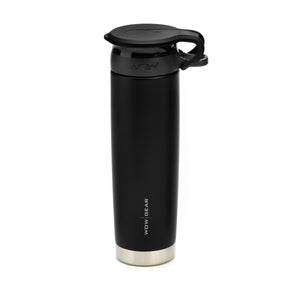 WOW GEAR Stainless Insulated 360 Sports Bottle - Black, 22 OZ / 650 ML