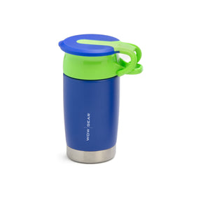 WOW KIDS 360° Sports Water Bottle - Double Walled Stainless Insulated 300 ML / 10 OZ - Blue