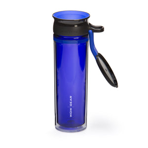WOW GEAR 360° Double-Walled TRITAN™ Sports Bottle - Blue, 20 OZ / 600 ml