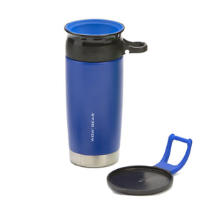 WOW GEAR 360° Double Walled Stainless Insulated Water Bottle - Midnight Blue, 13.5 OZ / 400 ML