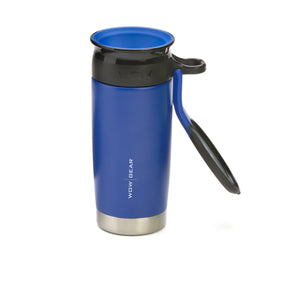 WOW GEAR Stainless Insulated 360 Sports Bottle - Midnight Blue, 13.5 OZ / 400 ML